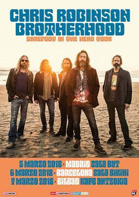 Conciertos de Chris Robinson Brotherhood en marzo en Madrid, Barcelona y Bilbao