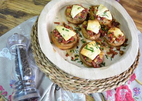 champiñones rellenos, champiñones rellenos de jamón serrano, champiñones rellenos de jamón serrano y queso, queso sin lactosa, sin lactosa, champiñones al ajillo, champiñones al horno, las delicias de mayte,