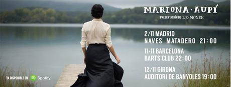 [Noticia] Primeros conciertos de presentación del nuevo disco de Mariona Aupí