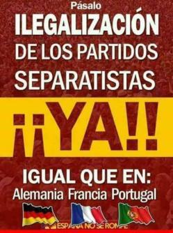 España medita si debe ilegalizar los partidos independentistas