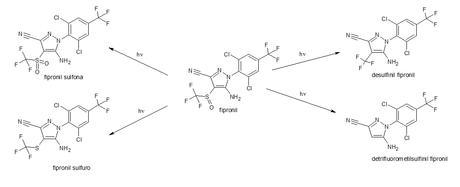 productos degradación fotoquímica del fipronil