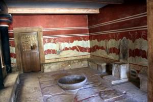 Salón del trono knossos