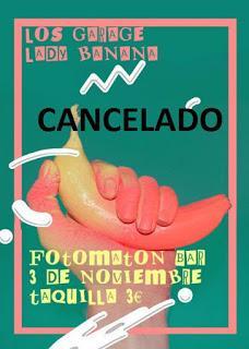 Cancelado el concierto de Lady Banana y Los Garage en Fotomatón Bar