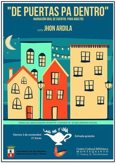 Cuentos para adultos: 'De puertas pa dentro' con Jhon Ardila