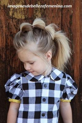 peinados bonitos para niña de 6 años moderno