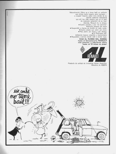 Renault 4L y un dibujo de Oski