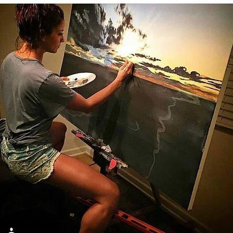Lori Gilbert y sus pinturas al oleo de paisajes naturales