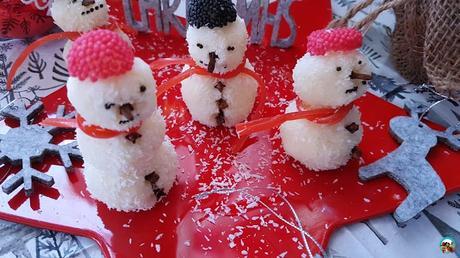 Muñecos de nieve de coco