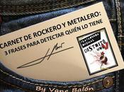 Carnet rockero metalero: frases para detectar quién tiene