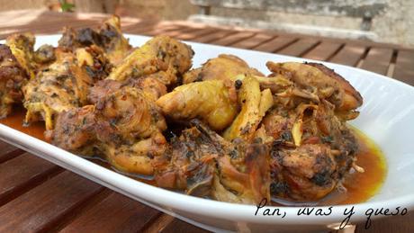 Pollo marinado (tradicional o Crock-Pot)