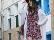 Casual otoño vestido sombrero