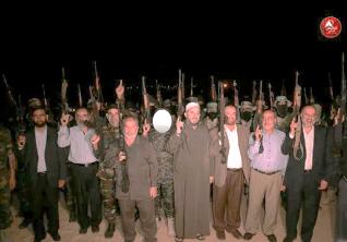 La visita de los miembros de la delegación de Hamás en las bases del ala militar de Hamás en el norte de la Franja de Gaza(página Facebook de Musheir al-Masri, miembro por parte de Hamás del Consejo Legislativo Palestino, 26 de octubre de 2017).