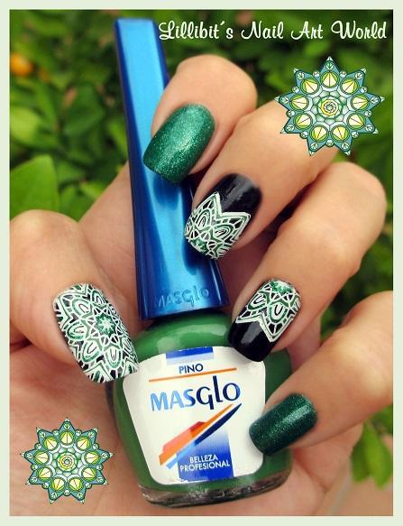 Mandala con Pino y Verde Escarchado de Masglo