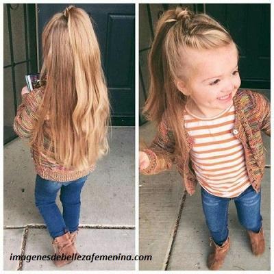 peinados para cabello largo de niña faciles suelto