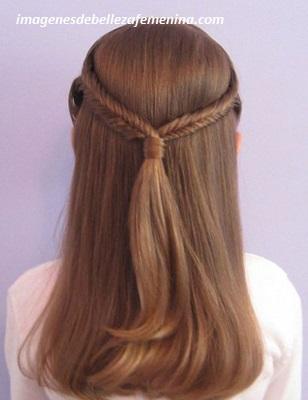 peinados para cabello largo de niña faciles pelo
