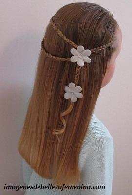 peinados para cabello largo de niña faciles trenza