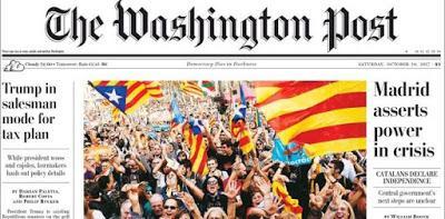 Catalunya protagoniza las portadas de la prensa internacional.