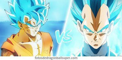 goku fase dios vs vegeta fase dios azul