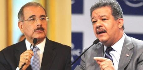 Danilo 53,84%; Leonel,46,16%, en sondeo Poder Interactivo.
