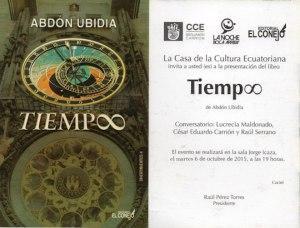 Sobre el libro TIEMP∞ de Abdón Ubidia | Santiago Peña Bossano