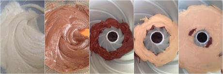Torta due colori - torta marmolada