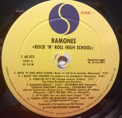 V.A ‎- Rock 'N' Roll High School -Lp 1979 (Ramones, Eddie Hot rods, Devo...)