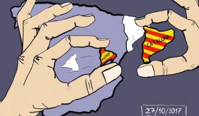 Elefantes africanos (a la caza) y políticos independistas catalanes (en la cárcel)