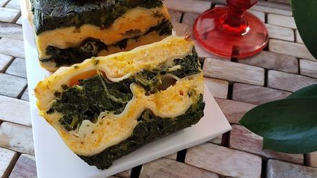 Pastel de espinacas con calabaza