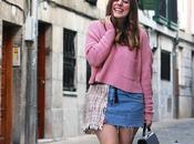Outfit falda vaquera tweed