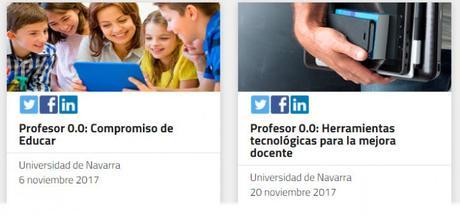 Dos cursos online gratuitos sobre herramientas digitales para docentes