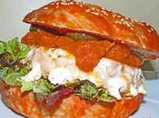 Receta Casera Hamburguesa salmón verduras