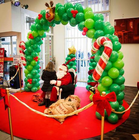 Decoraciones de Navidad con globos