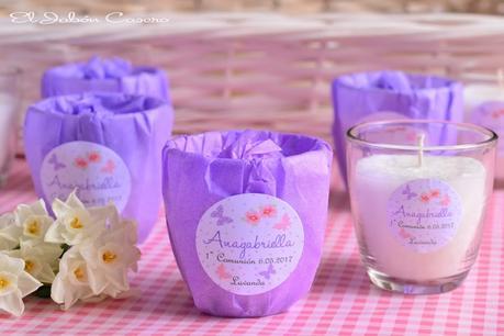 Detalles para comuniones velas aromaticas naturales artesanales