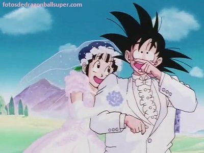 imagenes romanticas de goku y milk amor