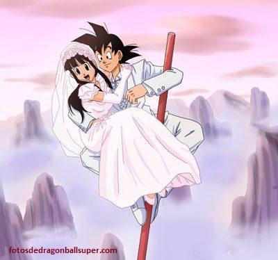imagenes romanticas de goku y milk casados