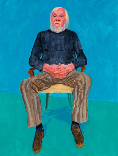 David Hockney expone retratos de sus amigxs en Bilbao