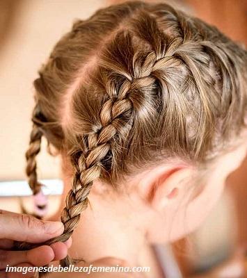 peinados para niña faciles y rapidos con trenzas dos