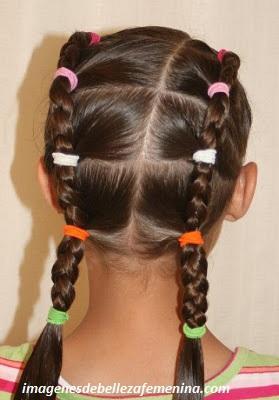 peinados para niña faciles y rapidos con trenzas paso