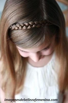peinados para niña faciles y rapidos con trenzas suelto