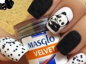Pandas peluchito Velvet negro Brillo Ajedrez Masglo
