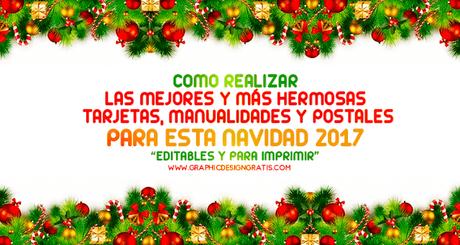 Manualidades frases y tarjetas de navidad 2017 editables - Frases de navidad 2017 ...
