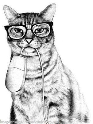 Dibujos e imagenes de gato con lentes psicodelicos y hipster - Paperblog