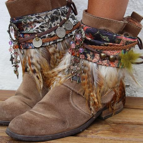 Decora botas con tela vintage