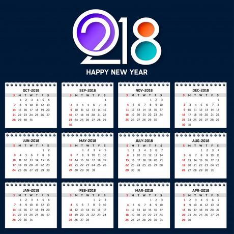 los mejores y más elegantes calendarios 2018 gratis de pared