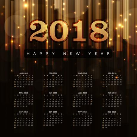 calendarios 2018 gratis de pared para año nuevo