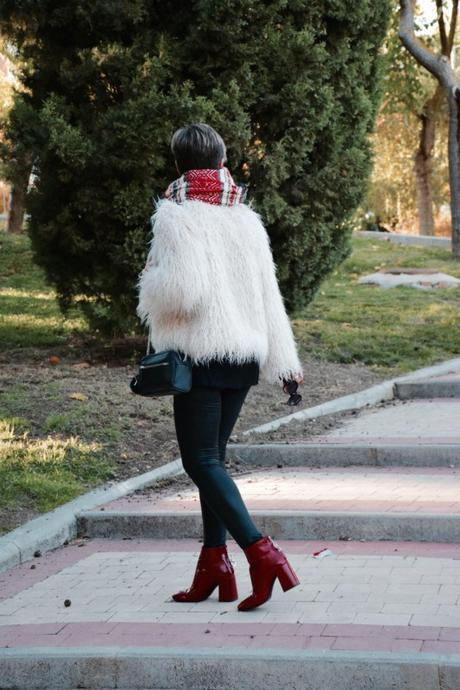 furry jacket look