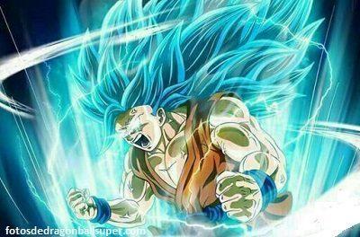 imagenes de goku super sayayin dios fase 3 azul
