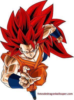 imagenes de goku super sayayin dios fase 3 rojo