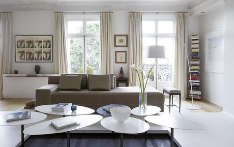 Nórdico Sala de estar by Bismut & Bismut Architectes