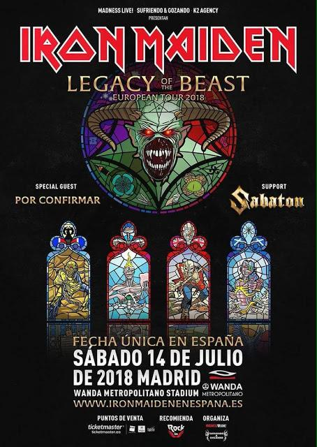 Iron Maiden, en Madrid, en Julio de 2018